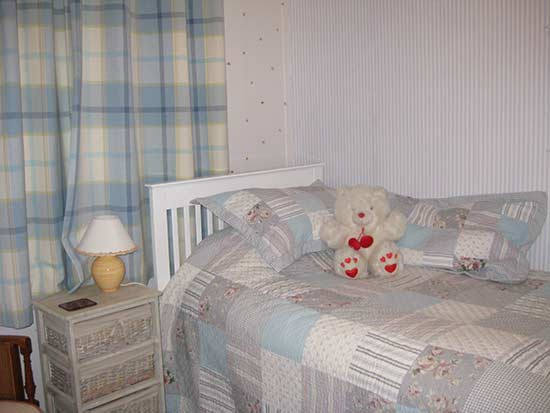 childrens bed in wheel room